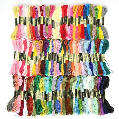 AU3.18 • Buy 8pcs/set DMC Cross Stitch Cotton Embroidery Thread Floss Sewing Skeins Craft