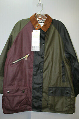 AU779.02 • Buy BARBOUR + Alexa Chung Corduroy-trimmed Patchwork Waxed-cotton Jacket Size:US:8