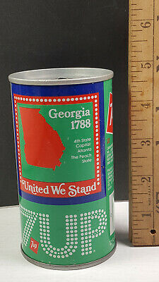 AU13.38 • Buy Georgia 1976 7up United We Stand Can Flat Pull Tab Top 1 Of 50 Rare Vintage