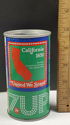 AU13.34 • Buy California 1976 7up United We Stand Can Flat Pull Tab Top 1 Of 50 Rare Vintage