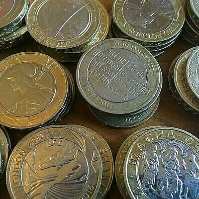 £4.99 • Buy Rare Two £2 Pound Coins UK Coins Olympics,Commonwealth,Navy,Bible,Mary Rose,ww1