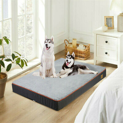 Waterproof Orthopedic Thick Memory Foam Dog Bed Removable Cover Anti-Slip Bottom • 32.97£