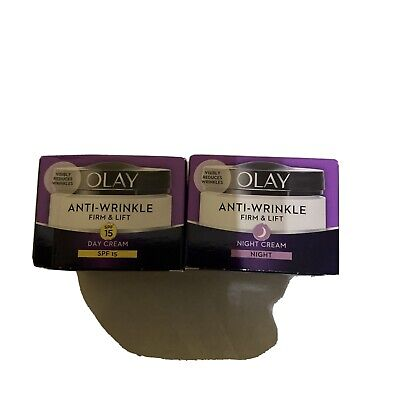 £12.45 • Buy 2 X Olay Anti-wrinkle Firm & Lift SPF 15 Night And Day Cream 50ml X 2