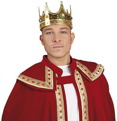 Hat King Crown Mens Fancy Dress Nativity Medieval Book Day Adult Costume Acce... • 21.10£