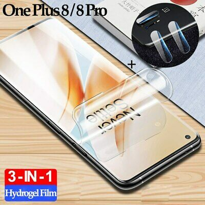 AU14.95 • Buy Hydrogel Screen Protector For One Plus 8, 8T, 8Pro, Nord (Front And Rear)