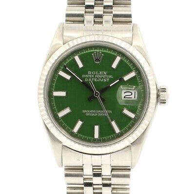 $ CDN7070.85 • Buy Vintage ROLEX Oyster Perpetual DateJust 36mm GREEN Luminescent Dial Watch