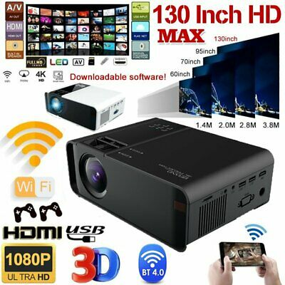 AU99.99 • Buy HD 4K 1080P Wifi Bluetooth Projector Android LCD Video Home Theatre Cinema HDMI