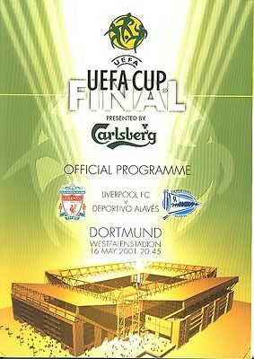 £3.99 • Buy UEFA CUP FINAL 2001 Liverpool V Alaves - Official Programme