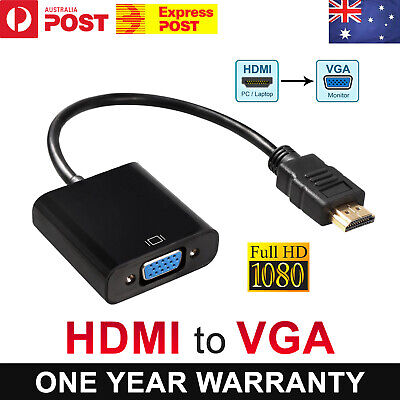 AU5.20 • Buy 1080P HDMI Male To VGA Female Video Adapter Cable Converter Chipset Built-in AU