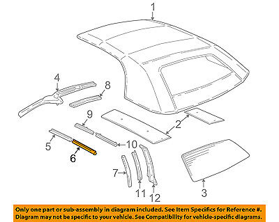 $172.08 • Buy GM OEM Convertible/soft Top-Weatherstrip Seal Right 12362940