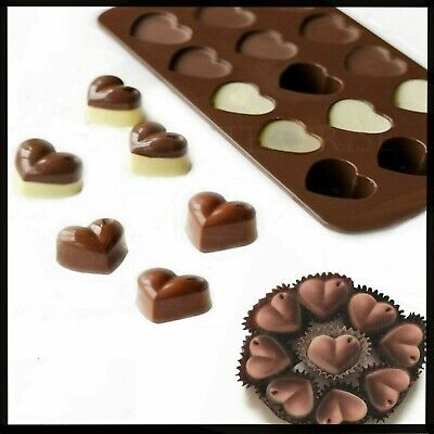£2.99 • Buy Love Heart Christmas Shaped Tray Chocolate Ice Jelly Silicone Mould Baking