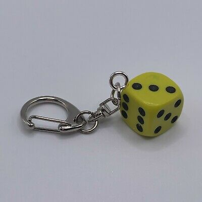 £1.50 • Buy D6 Dice Keyring - Yellow Opaque - 003