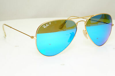 £72.74 • Buy Authentic Ray-Ban Polarized Vintage Sunglasses Aviator 58mm RB 3025 112/4D 31494