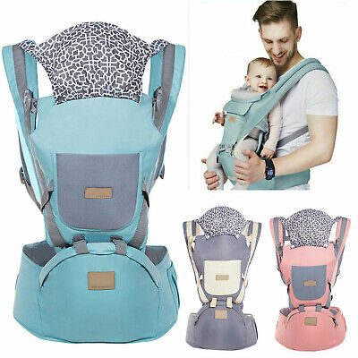Ergonomic Infant Baby Carrier With Hip Seat Adjustable Wrap Sling Backpack New • 18.69£