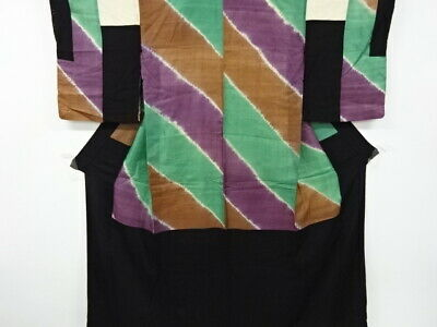 $ CDN142.09 • Buy 5130630: Japanese Kimono / Antique Nakagi / Do-nuki Shibori / Stripes