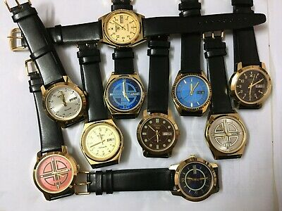 $ CDN227.31 • Buy Job Lot Of 10 Seiko Golden Cased Automatic Working Wrist Watches - Free Shipping