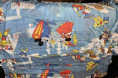 Disney Valance Curtain Fabric Mickey Goofy Donald Pirate Frontier Vtg Lot Of 5 • 32.19£