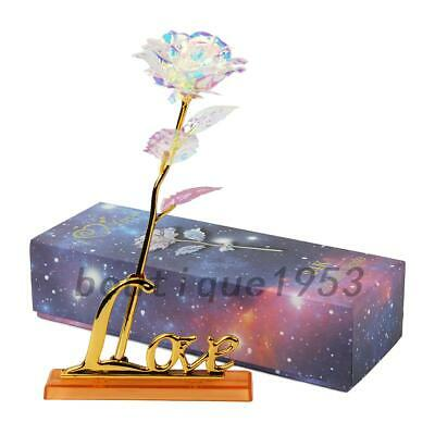AU8.99 • Buy Galaxy Rose Flower Valentine's Day Anniversary Mother Girl Gift With Base & Case