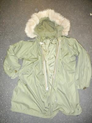 $359.99 • Buy Korea M-1951 FishTail Parka Shell With Liner And Fur Lined Hood  Nice Medium