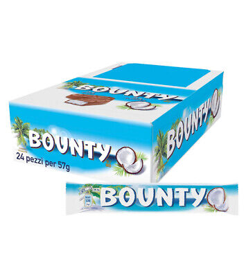 Full Box 24 X 57g Bars Bounty Milk Chocolate Bar Free Tracked Delivery • 12.79£