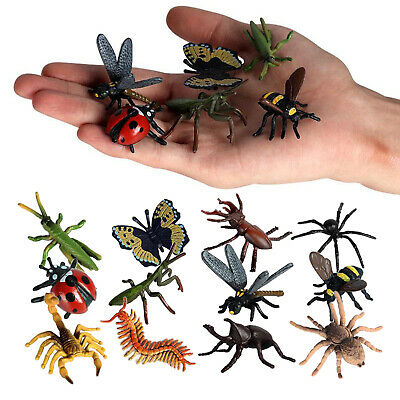 £4.99 • Buy 12pcs Insects Bugs Spider Scorpion Bee PVC Plastic Toy Figures Model