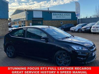 2008 08 Ford Focus 2.5 St-3 3d 223 Bhp Panther Black Metallic Full Leather • 9,995£