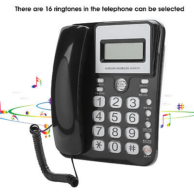 Home Desk Corded Wall Mount Landline Phone Telephone Handset LCD With Caller ID • 10.12£