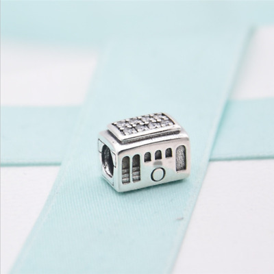 Authentic Pandora Cable Car Clear CZ Sterling Silver Charm Gift Pouch 791219CZ • 24.19£