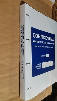 £4.55 • Buy Accident Report Ring Binder. A4 ACCIDENT Folder For Book. HSE Compliant, Office