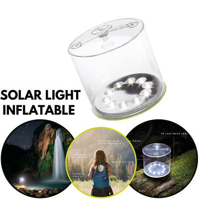 AU19.99 • Buy Inflatable Solar Powered LED Tent Light Outdoor Camping Hiking Lantern Lamp