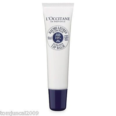 L'OCCITANE SHEA BUTTER ULTRA RICH LIP BALM  0.39 OZ /12 Ml  New • 14.30£