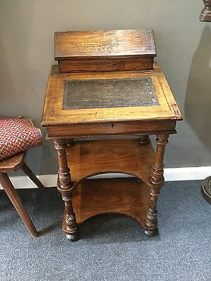 £195 • Buy  Antique Davenport Victorian Leather Rosewood Desk Period Country Furniture