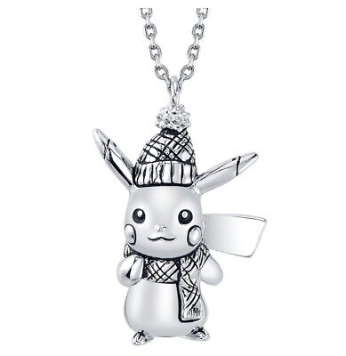 Winter Pikachu Necklace RockLove Carved Sterling Silver Limited • 142.23£