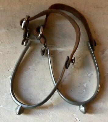 """$29.95 • Buy Pair Of Antique Spurs 1900s Made In England """"The Martial"""" Cavalry, Military?"""