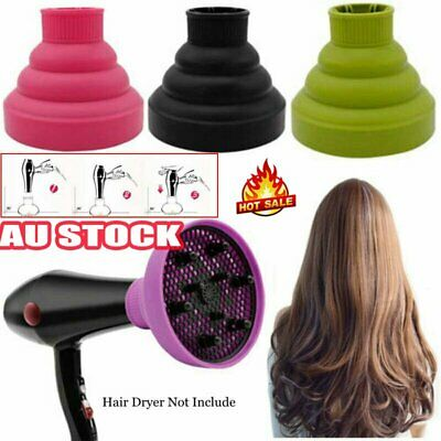 AU13.42 • Buy Silicone Hair Dryer NEW Universal Salon Travel Foldable Diffuser Professional XA