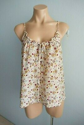 AU40 • Buy Tilly By Lee Mathews Ruffle Trim Buttons & Drawstring Ties Floral Cami Top Sz 0