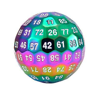 AU34.10 • Buy Role Playing Metal Single 100 Sided Polyhedral Dice (D100) Rainbow Solid (50mm)