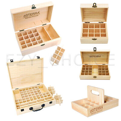 AU13.29 • Buy DoTERRA Aromatherapy Essential Oil Storage Box Wooden Case Container Holder