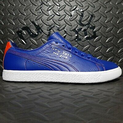 Puma Clyde Sneakers NYC Knicks Color Way Blue/orange 372310-01 Size 10.5 • 57.62£