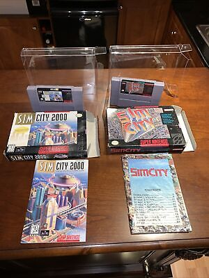$ CDN129.99 • Buy SimCity And SimCity 2000 Lot - Complete CIB - Super Nintendo - SNES - Tested