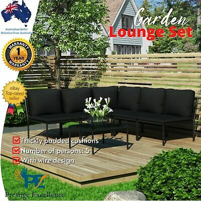 AU483.97 • Buy 6pc Outdoor Lounge Setting Garden Furniture Sofa Patio Table Chairs W/ Cushions