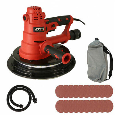 Excel 800W Electric Handheld Drywall Sander With 225mm Sanding Sheet Pack Of 20 • 80.99£