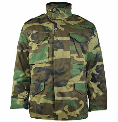 $70.90 • Buy Mil-Tec US Army M65 FIELD JACKET Mens W/ Thermo Liner Woodland Camo