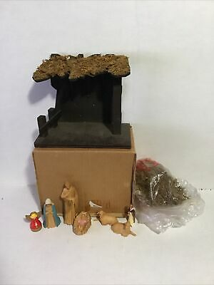 £28.32 • Buy Vintage Nativity Stable Moss And Assorted Figures