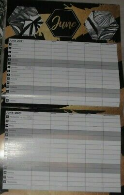 2021 Family Organiser Planner With 5 Columns - For All The Family Great Gift  • 4.49£