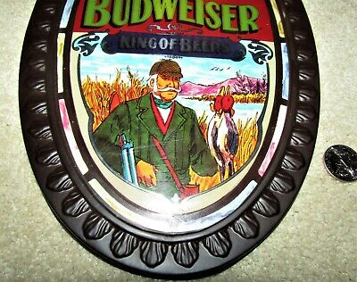 $ CDN44.50 • Buy BUDWEISER Beer 1970's Oval DUCK HUNTER  HUNTING Wall Sign
