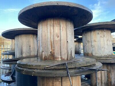 Large Wooden Cable Drum Empty Reel - UK Salford - Good Quality Wood - Mulitiple • 55£
