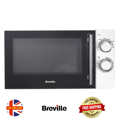 BREVILLE Microwave White 17 L Capacity Powerful 800 W 5 Power Levels NEW • 79.99£