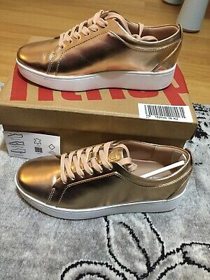 Fitflop Girl's Rally Metallic Slip On Trainers • 40£