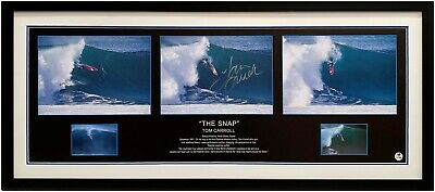 AU349 • Buy Tom Carroll The Snap Pipe Surfing Signed Photo Framed Certificate Authenticity